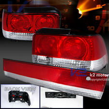 1993-1997 Toyota Corolla JDM Red Clear Tail Lights 3Pc