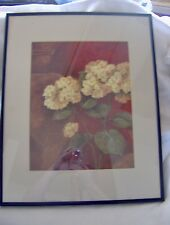 Hydrangeas in Whites and Reds Framed in Black 20.5X14.5
