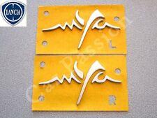 COPPIA STEMMI MYA LANCIA YPSILON Y 2011> ORIGINALE LATERALE DX + SX logo emblem