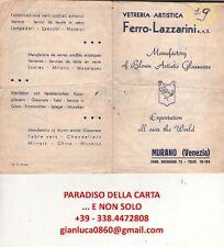 VETRERIA ARTISTICA FERRO LAZZARINI, MURANO VENEZIA (Pass - Pubblicità vintage)
