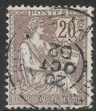 France 1900 Definitive Issue, The Rights of Man, 20c Individual Stamp.