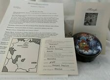"""Morozko"" Ardleigh Elliot & Sons Father Frost Round Music Box Coa #A612 (J9)"