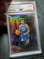 2017-18 Panini Select Purple Prizm Die-Cut Markelle Fultz RC /99 PSA 10