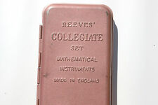 Vintage Math Tool Reeves Collegiate Set Mathematical Instruments College Teacher