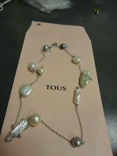***TOUS: collar oro blanco y perlas***