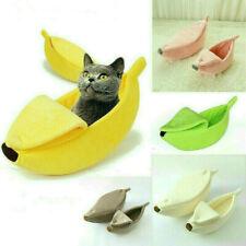 Banana Shape Cat Bed Pet Kitten Nesting House Kennel Warm Sofa Sleeping Cave