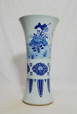 Chinese  Blue and White  Porcelain  Beaker  Vase   M346