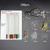 Shrinky Plastic DIY Heat Shrink Sheets Kit Paper Hole Hot Punch Sale V5W0