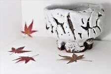 Chawan ceramica Giapponese HAGI WARE SEIGAN YAMANE pottery oni-hagi tea bowl new