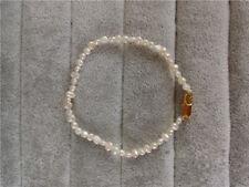 schön 5-6 mm weiß Barock Perle Armband,7inch