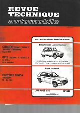 revue technique automobile N°380 CHRYSLER SIMCA HORIZON évolution citroen méhari