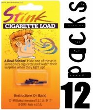 12 PACKS OF 6  Stink Smell Cigarette Loads - Gag Prank Smoking Trick Joke