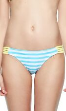 New Bodyglove Womens Waterfall Flirty Surf Rider Stripe Bikini Bottoms Size M
