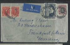 SOUTHERN RHODESIA COVER (PP1211B) 1931 KGV 1DX2+6D+WATERFALLS 3D A/M TO GERMANY
