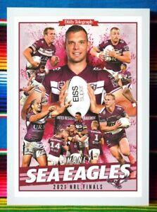 ✺Framed✺ 2021 MANLY SEA EAGLES NRL Poster TOM TRBOJEVIC - 45cm x 32cm x 3cm