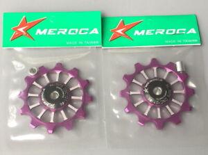 2* MEROCA Bike 12T Narrow Wide Jockey Wheels Ceramic Bearing Derailleur Pulley