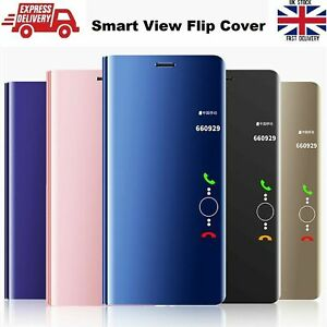 Smart View Mirror Flip Stand Case For Samsung Note 20 Ultra S20 FE S20+ Ultra 5G