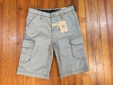 New True Craft Youth Boys Size 16 Stretch Eel Gray Shorts 30W Nwt Belk Msrp $42