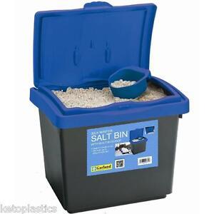 30 Litre GRIT ROCK SALT BIN DUSTBIN  De-Ice 30L Storage Container MADE IN UK