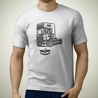 Scania R730 V8 Truck Premium Truck Art Men's T-Shirt