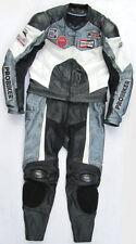 Top Probiker PRX-3 Gr. 48 Zweiteiler Lederkombi schwarz silber weiß Leather Suit