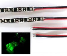 GREEN LED FOOTWELL/INTERIOR STRIP LIGHTING 2x40CM  - DOUBLE DENSITY - BRIGHTER