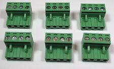 Set of 6 / 4 pin - 5.08mm /  Speaker Connector - Terminal Block - Phoenix Plug