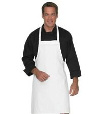 1 NEW BRIGHT WHITE KITCHEN CRAFT RESTAURANT BIB APRON PREMIUM TWLL 7.2oz