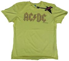 Amplified vintage Official AC/DC strass logo rock star vintage t-shirt G.M 50
