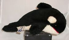 Vintage 1986 Sea World Orca Killer Whale Plush With Tush Tag RARE 10 inches
