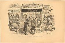 ALBERT ROBIDA LE VINGTIEME SIECLE GRAVURE TOMAHAWK-CITY CAPITALE 1883 ?