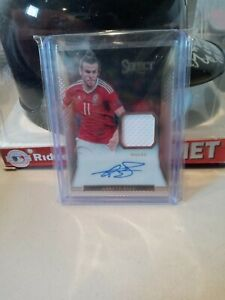 2016-17 PANINI SELECT SOCCER GARETH BALE WALES PATCH AUTO 60/65