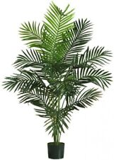 Artificial Palm Tree Fake Plant 5' Tall Potted Home Office Decor Plastic Green