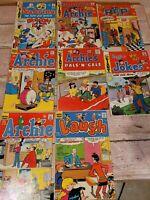 Lot Of 8 Vintage Archie Series Comic Books                                   D5