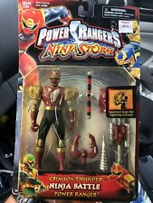 "Power Rangers Ninja Storm 5"" Crimson Thunder Ninja Battle Ranger New 2003"
