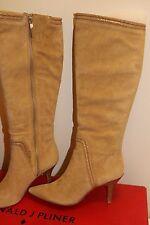 NIB Donald J Pliner TERO Women's Knee High Boots Camel Tan Suede Sz 6.5