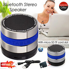 Wireless Mini Super Bass Bluetooth Portable Aux Speakers For iPhone iPad Blue UK