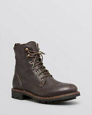 Fiorentini + Baker Womens Brown Lace Up Combat Leather sheep fur Boot 9M