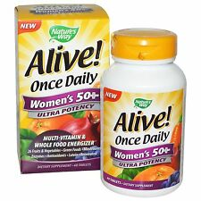 Alive! Once Daily Women's 50+ Multi-Vitamin - 60 Tablets by Nature's Way