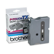 Brother TX2411 3/4 (18mm) Black On White p-touch tape for PT30, PT-30 printers