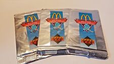 1991-92 MCDONALDS Upper Deck Hockey Hologram  Foil Pack  Lot of (3) 91-92
