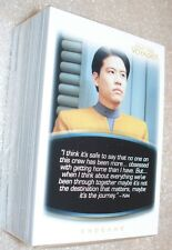 STAR TREK VOYAGER Quotable  Complete Trading Card Set
