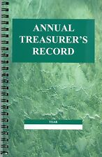 Annual Treasurer's Record for Sunday school or church - replaces Standard 08509