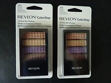 Revlon ColorStay 12 Hr Eye Shadow Quad - SUNRISE SUNSET #375 - TWO New / Sealed
