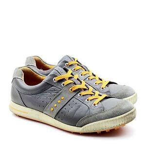Ecco Street Premiere Gray Leather Spikeless Golf Shoe Mens EU 43 US 9 - 9.5