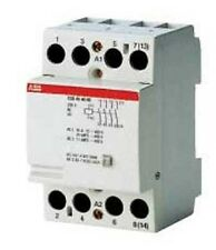 ABB CONTACTOR ESB404005 40A Rated Operation Current, 240VAC/DC, 4-Poles