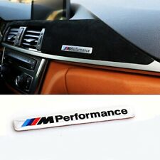 BMW M Performance 3D Emblem Sticker Badge Chrome Silver