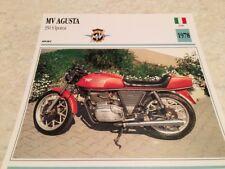 Carte moto MV Agusta 350 S Ipotesi 1978 collection Atlas Italie