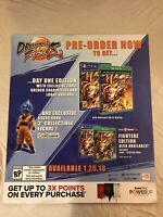 "Dragonball Fighter Z Gamestop Exclusive Promo Poster Dragon all Z Goku 24"" X 28"""