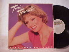 1984 MIRAGE LP TONI TENNILLE MORE THAN YOU KNOW NEAR MINT VINYL RECORD